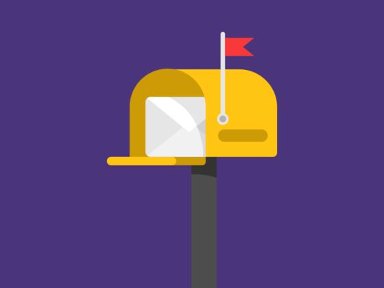illustration d'une boîte aux lettres avec du courrier à l'intérieur