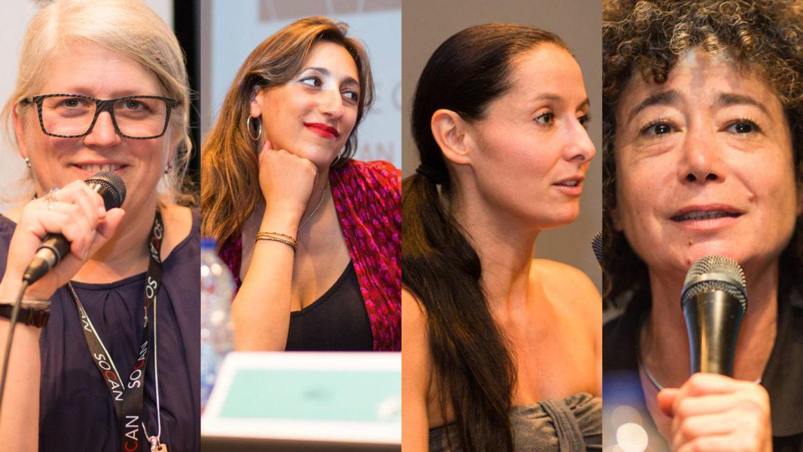 Geneviève Côté, Florence K, Gaële et Caroline Molko